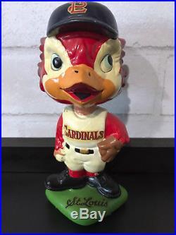 Vintage St. Louis Cardinals Baseball Bobble Head BobbleHead Nodder 1960's Japan