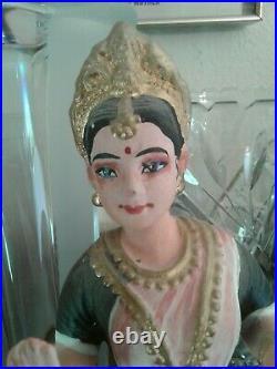 Vintage THANJAVUR / Tanjore Handmade India PAPER MACHE Bobblehead DANCING DOLL