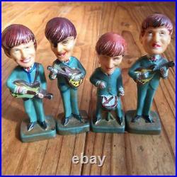 Vintage THE BEATLES Bobble Head Plastic Figures Set of 4 Cake Toppers Ringo RARE