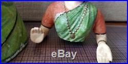 Vintage Thanjavur Dancing Doll Handmade BOBBLEHEAD PAPER MACHE