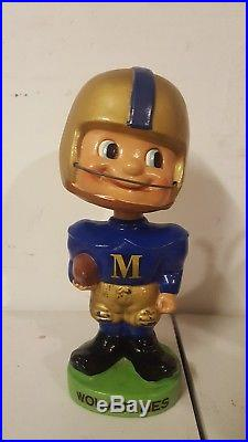 Vintage University of Michigan green base nodder bobblehead bobble Japan 1962