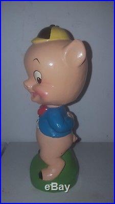 Vintage Warner Brothers Porky Pig Nodder Bobblehead Bobble Gem Mint All Original