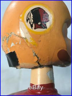 Vintage Washington Redskins Bobblehead Statue Nodder 1965 Round Gold Base Damage