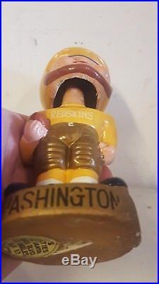 Vintage Washington Redskins gold base nodder bobblehead bobble Yellow helmet NFL