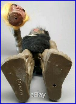 Vintage Wurzelsepp Voodoo Bobble Head Nodder Troll Cave Man Heico W Germany READ