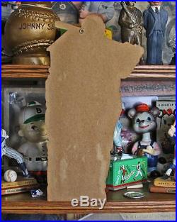 Vintage YANKEE'S BABE RUTH BASEBALL FRO-JOY ICE CREAM DIE-CUT WINDOW CARD SIGN