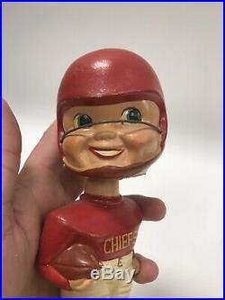 Vtg 1960's NFL BOBBLE HEAD NODDER Kansas City Chiefs Football Super Bowl Champs