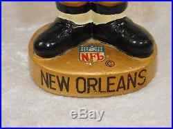 Vtg 1960's NFL New Orleans Saints Football Bobble Head Nodder