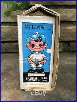 Vtg 1982 Atlanta Braves Indian 7 Baseball Bobble Head Nodder WithBox Taiwan Rare