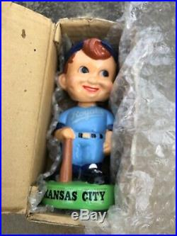 Vtg 1982 Kansas City Royals 7 Baseball Bobble Head Nodder WithBox Taiwan Rare