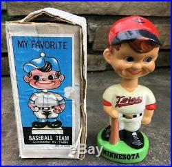 Vtg 1982 Minnesota Twins 7 Baseball Bobble Head Nodder WithBox Taiwan Rare Nice
