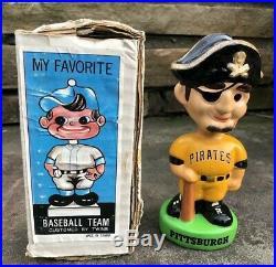 Vtg 1982 Pittsburgh Pirates 7 Baseball Bobble Head Nodder WithBox Taiwan Rare