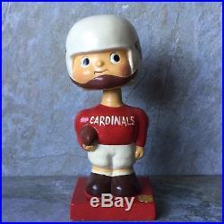 Vtg 60s NFL Cardinals Football Bobble Head Paper Mache Nodder Japan