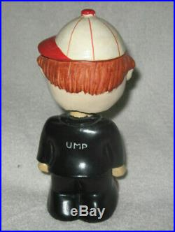 Vtg Baseball Umpire Bobble Head Nodder With Blinking Eyes Chase CO. Japan Rare
