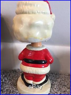Vtg Bobblehead Santa Nodder Ceramic Japan Original Box Sleigh Christmas Spring