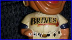 Vtg MILWAUKEE BRAVES Indian Bobblehead Figurine Baseball 1962 Japan Green Base