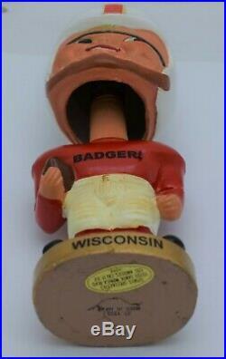 WISCONSIN BADGERS Vintage Bobblehead Nodder 1968 Sports Specialties Japan