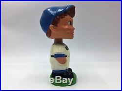 White Sox Bobblehead Nodder Vintage 1962 Green Base Dimples Brown Hair Blue Eyes